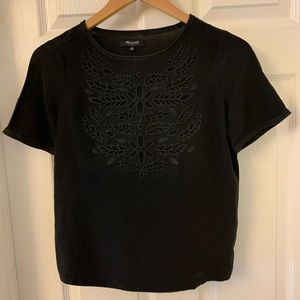 Madewell | Silk Eyelet Blouse | XS | Like New